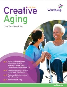 Creative Aging Magazine Fall 2014 Edition Cover